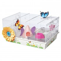 "Midwest Critterville Butterfly Hamster Home Clear, White 19.5"" x 13.8"" x 9.8"""