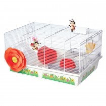 "Midwest Critterville Ladybug Hamster Home White, Red 19.5"" x 13.8"" x 9.8"""
