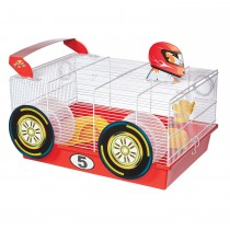 "Midwest Critterville Race Car Hamster Home White, Red 19.5"" x 13.8"" x 9.8"""