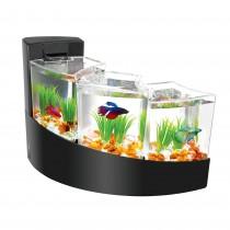 "Aqueon Betta Falls Aquarium Kit Black 16.93"" x 10.95"" x 11.42"""