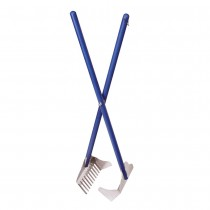 "Four Paws Sanitary Pooper Scooper Rake Scoop Blue 5.25"" x 7"" x 33.5"""