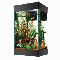 "Aqueon 15 Column LED Aquarium Starter Kit Black 13.75"" x 13.75"" x 25"""