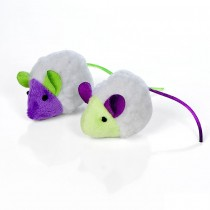 "Our Pets Mouse in Sheep's Clothing Cat Toy Multi-Color 5"" x 1.5"" x 1"""