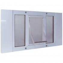 """Ideal Pet Products Aluminum Sash Pet Door Medium White 1.75"""" x 17.88"""" x 23"""""""