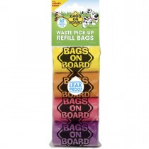 Bags on Board Waste Pick-Up Refill Bags 60 count Multi-Color