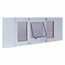 "Ideal Pet Products Aluminum Sash Cat Flap Pet Door Small White 1.25"" x 10.63"" x 33"""