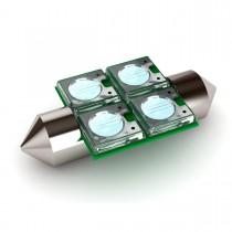 """BioBubble LED Bulb0 Green / White 1.5"""" x 0.75"""" x 0.25"""""""