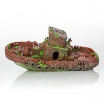 "BioBubble Decorative Sunken Tugboat 12.5"" x 4.25"" x 2.75"" - BIO-60307300"