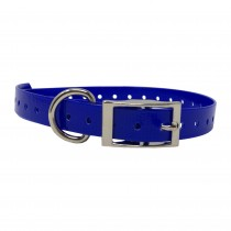 "The Buzzard's Roost Replacement Collar Strap 3/4"" Dark Blue 3/4"" x 24"""