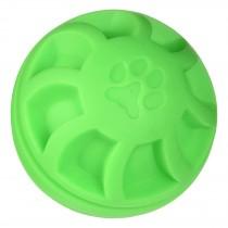 "Hueter Toledo Soft Flex Swirel Ball Dog Toy Green 4"" x 4"" x 4"""