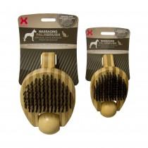 "Hugs Pet Products Massaging Pet Palm Brush Large Brown 6.5"" x 4"" x 3"" - HUG-50009"