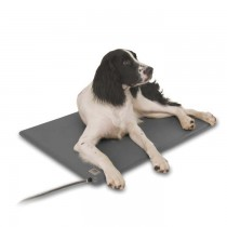 K&H Pet Products Deluxe Lectro-Kennel Gray