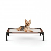 "K&H Pet Products Self-Warming Pet Cot Medium Brown 25"" x 32"" x 7"""