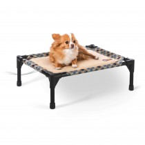 K&H Pet Products Thermo-Pet Cot Small Tan / Plaid 17'' x 22'' x 7''