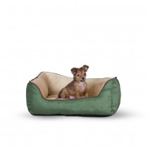 "K&H Pet Products Self-Warming Lounger Sage/Tan 16"" x 20"" x 6"" - KH3163"