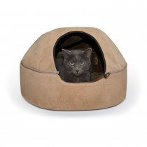 """K&H Pet Products Kitty Dome Bed Unheated Large Tan 20"""" x 20"""" x 13.50"""""""