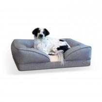 "K&H Pet Products Pillow-Top Orthopedic Pet Lounger Large Gray 28"" x 36"" x 9.5"""