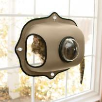 """K&H Pet Products EZ Mount Window Bubble Cat Pod Tan 27"""" x 20"""" x 7.5"""""""