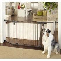 """North States Deluxe Décor Wall Mounted Matte Bronze Gate 37"""" - 71"""" x  30.7"""" - NS4934"""