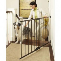 """North States Easy Swing and Lock Wall Mounted Matte Bronze Gate 28"""" - 48""""  x 31"""" - NS4955"""