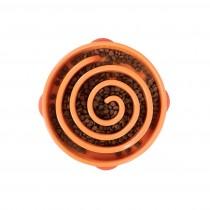 "Outward Hound Fun Feeder Slo-Bowl Swirl Small Orange 9.5"" x 8"" x 2.5"""