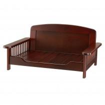 """Richell Elegant Wooden Pet Bed Dark Brown 35.4"""" x 24.4"""" x 16.9"""""""