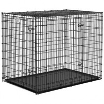 "Midwest Solution Series Ginormous Double Door Crate 54"" x 37"" x 45"" - SL54DD"